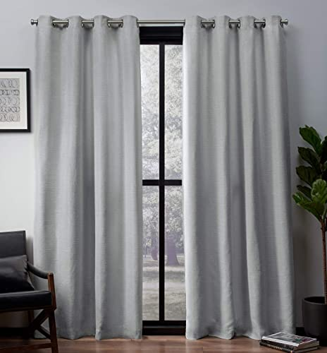 Cheap Exclusive Home Curtains Leeds Textured Slub Woven Blackout Window Curtain Panel Pair window curtain panel for sale