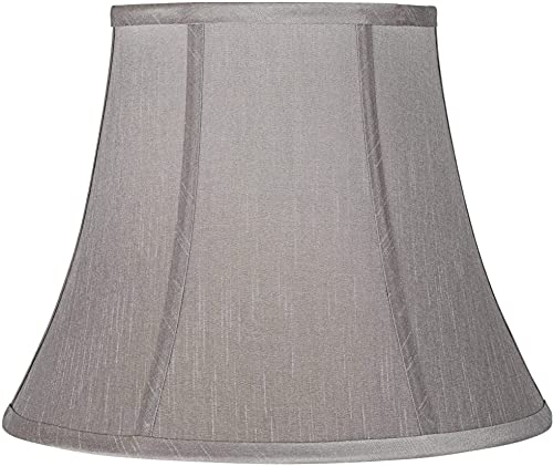 Pewter Gray Bell Lamp Shade 8x14x11 Spider – Brentwood