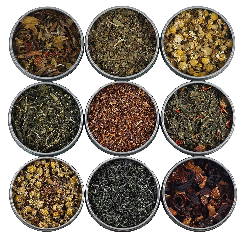 Muestra de té Heavenly Tea Leaves, 9 unidades: Amazon.com ...