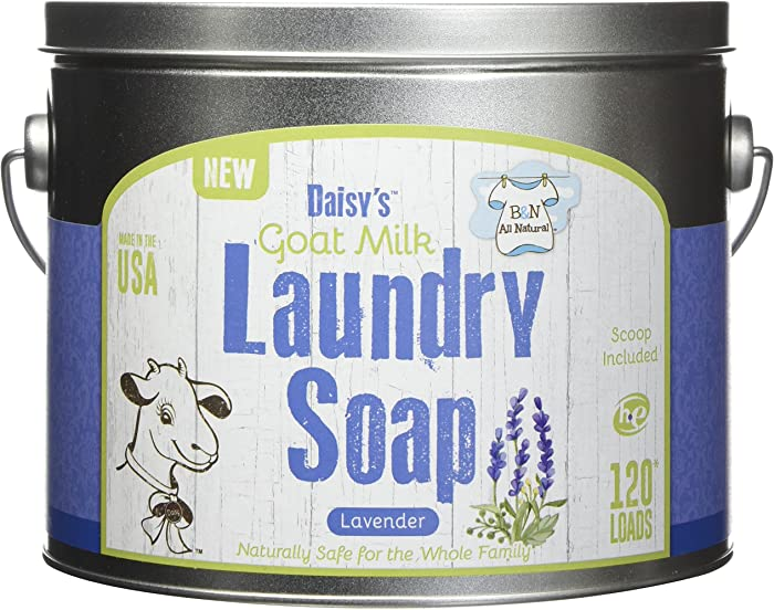 Brooke & Nora at Home, Goat Milk Laundry Soap, Lavender, 120 Loads