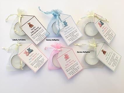 20 contracepción bricolaje bolsa de Organza, vela y etiqueta ...