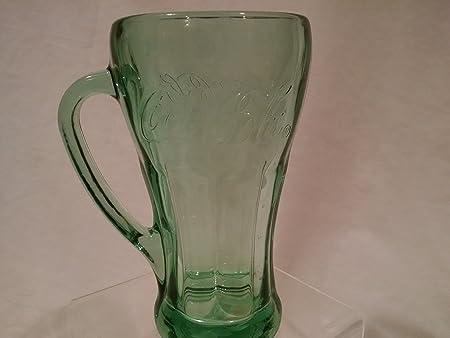 Coca Cola Coke Green Tinted Glass Mug With Handle Coca Cola Mug Coke Mug Everything Else