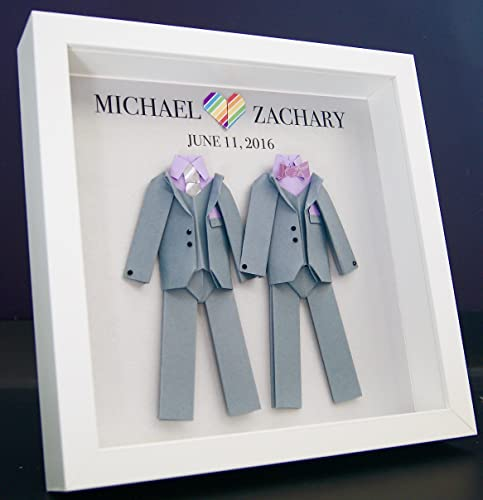 Personalized Gay Same Sex LGBT Wedding Gift