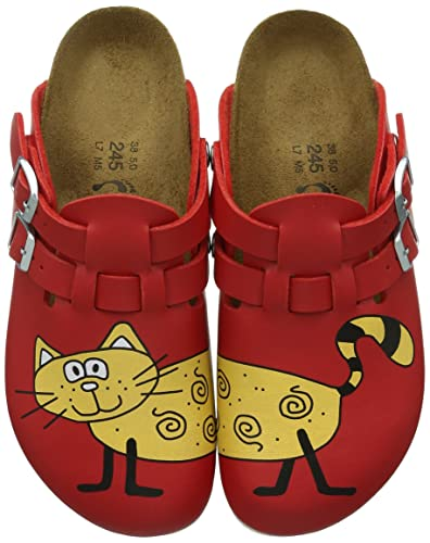 67eb79fbb19b Amazon.com  Birkenstock Clogs   Kay   Aus Birko-flor in Cat Red ...
