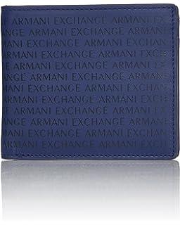 d99a37c56ea6e9 Armani Exchange Men s All Over Laser Logo Bi Fold Wallet