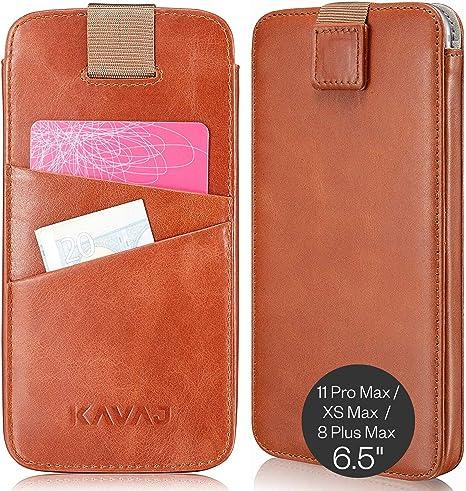 Marrone scuro in pelle custodia per iPhone XS Max 8 Plus 7 Plus