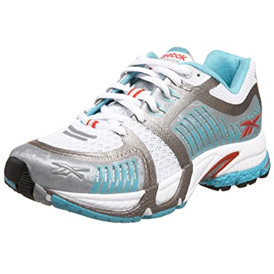 f020db40cf16 Reebok Premier Smoothfit Cushion Womens Running Shoes trainers jogging for women  ladies White Silver Red Bermuda Blue Typhoon Size 9.5  Amazon.co.uk  Shoes  ...