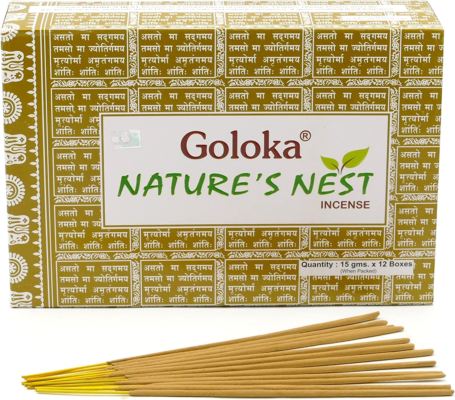 Goloka Nature's Nest Masala Incense Sticks 15gms x 12 Packs by Goloka