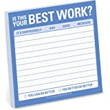 Knock Knock Sticky Note Pad, is That Your Best Work? (12476)
