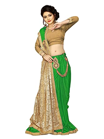 6bcfd92763d2 Fancy New Arrival High Quality Lycra Heavy Embroidered Border Saree in  Offer and Discount Price Exclusive Fancy Designer Sarees (Green):  Amazon.in: Clothing ...