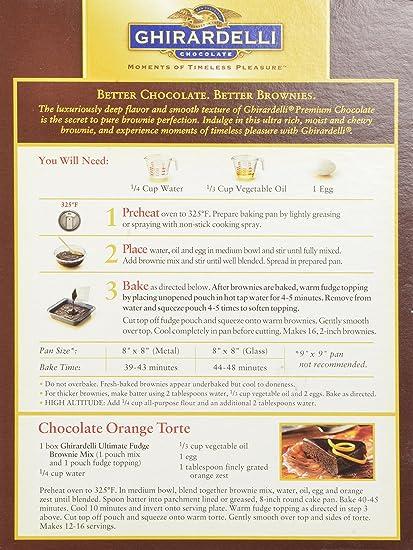 Amazon Ghirardelli Chocolate Ultimate Fudge Brownie Mix 18