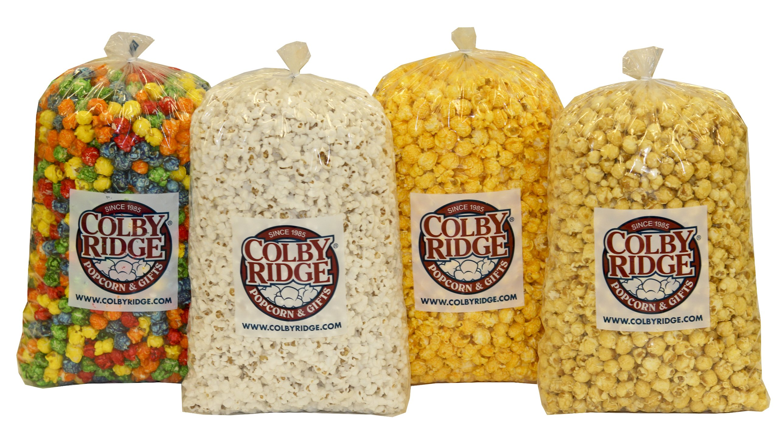 8 Gal. (128 Cups) Popcorn Sampler Colby Ridge Popped Popcorn by Colby Ridge