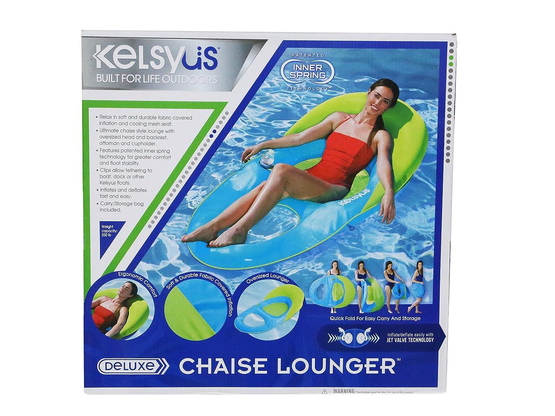 Amazon.com: Kelsyus Deluxe - Tumbona hinchable flotante para ...