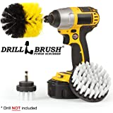 Revolving Electric Cleaning Brushes Carpet Spot Cleaning and Upholstery Cleaning Kit by Drillbrush