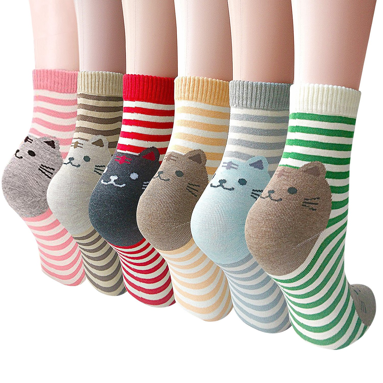 Womens Casual Socks - Cute Crazy Lovely Anial Cats Dogs Design Goods ofr Gift One Size fits All … (Cats Back)
