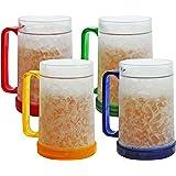 Amazon Com Double Wall Gel Frosty Freezer Mugs 16oz Set