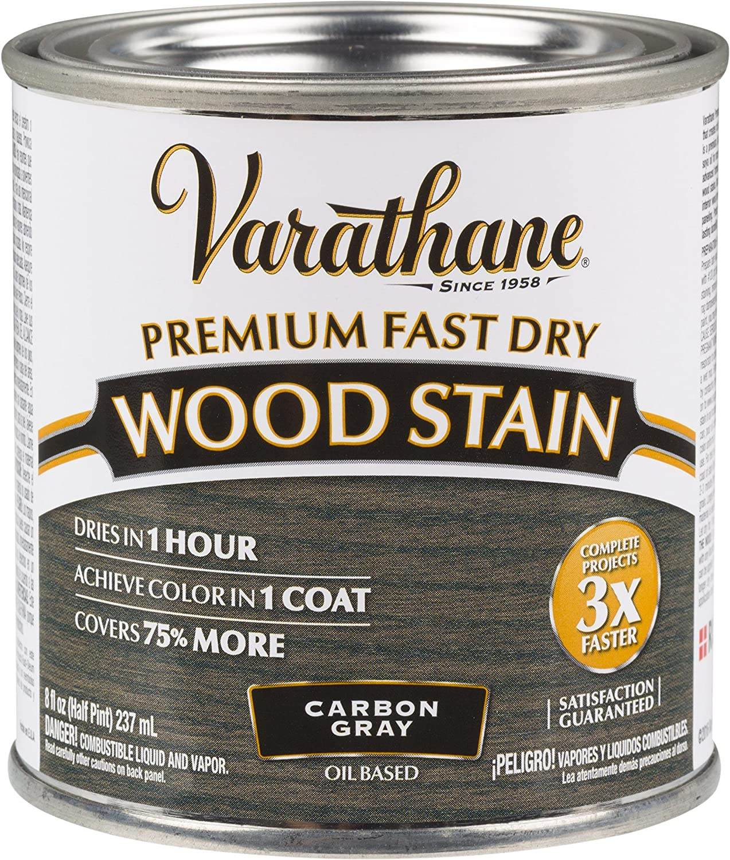 Varathane 307416 Premium Fast Dry Wood Stain, 1/2 Pint, Carbon Gray