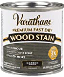 Rust-Oleum 307416 Fast Dry Premium Fast Dry Wood Stain, Carbon Gray, 8 Oz,, Half pint