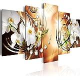 murando - Quadro 200x100 cm - 5 Parti - Quadro su tela fliselina - Stampa in qualita fotografica - Fiori Orchidea Perle Diamant b-A-0257-b-o