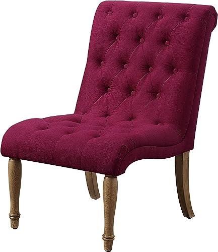 Rosevera Accent Chair, 38 H x 23 W x 31 D, Burgundy Wine