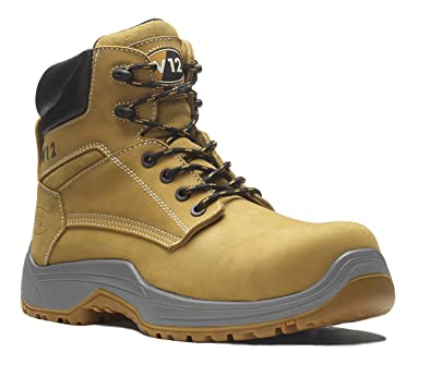 9104b16c866 V12 VR602.01 IGS Puma Unisex Safety Boot Metal Free Toe Cap Nubuck Work  Footwear  Amazon.co.uk  Shoes   Bags
