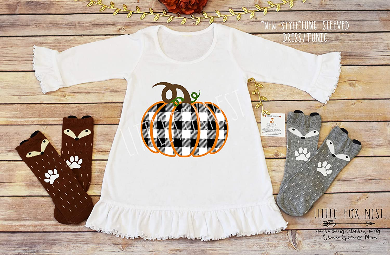 Amazon.com: Fall Dress, Pumpkin Dress, Toddler Dress, Pumpkin