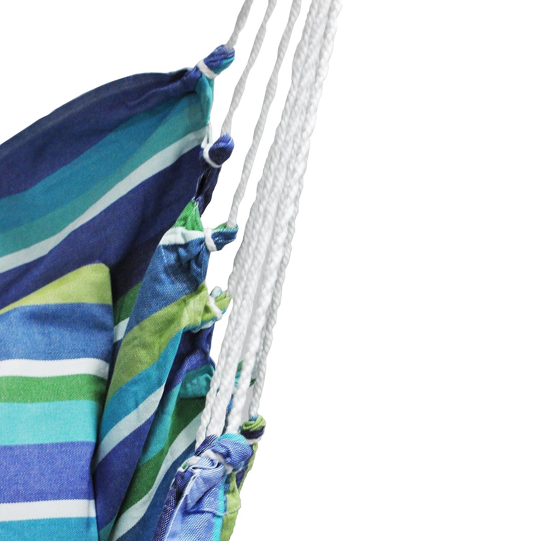 Sedia Sospesa con 2 cuscini 61x61 cm Modello grande Sedia Amaca Con 2 fodere di cuscini, Aranccio Mandarina Cotone Peso massimo di 140 kg