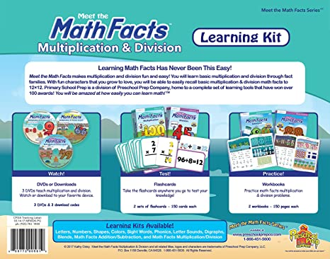 Amazon.com: Meet the Math Facts Multiplication & Division Learning ...
