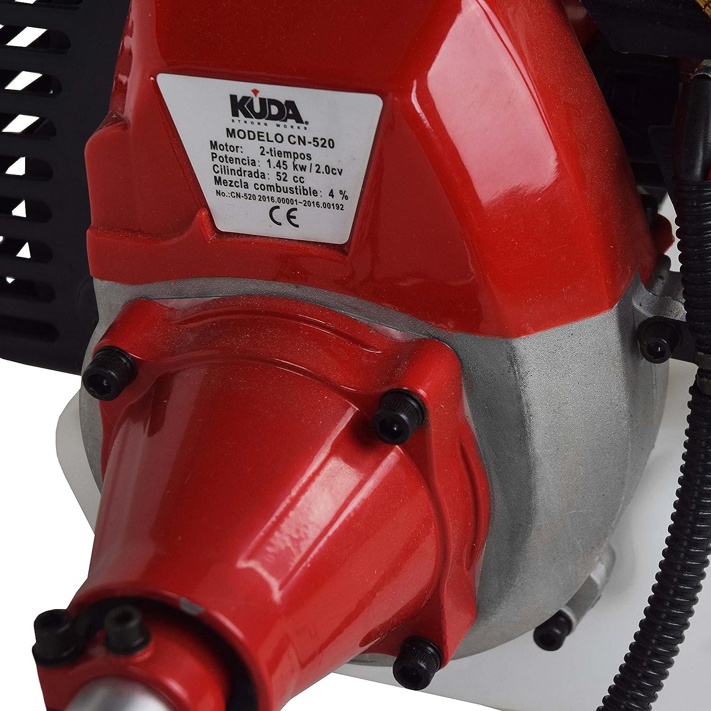 Desbrozadora KUDA de 52cc con disco y cabezal de hilo