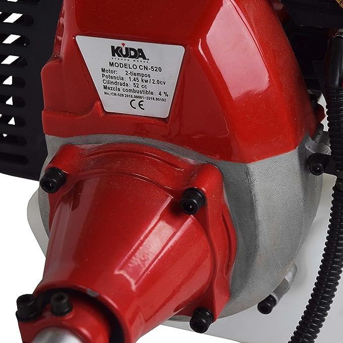 Desbrozadora KUDA de 52cc con disco y cabezal de hilo: Amazon.es ...