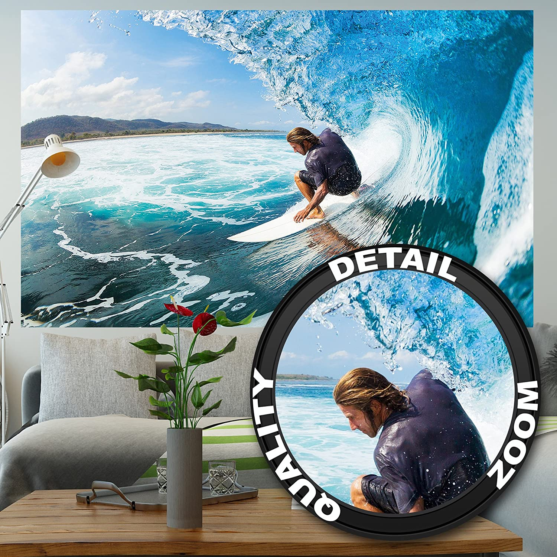 GREAT ART Póster Surfista Mural Decoración Deporte Mar Naturaleza Beach Ola Surfear Océano Tabla de Surfear Surfboard Deporte acuático | Foto póster Mural ...
