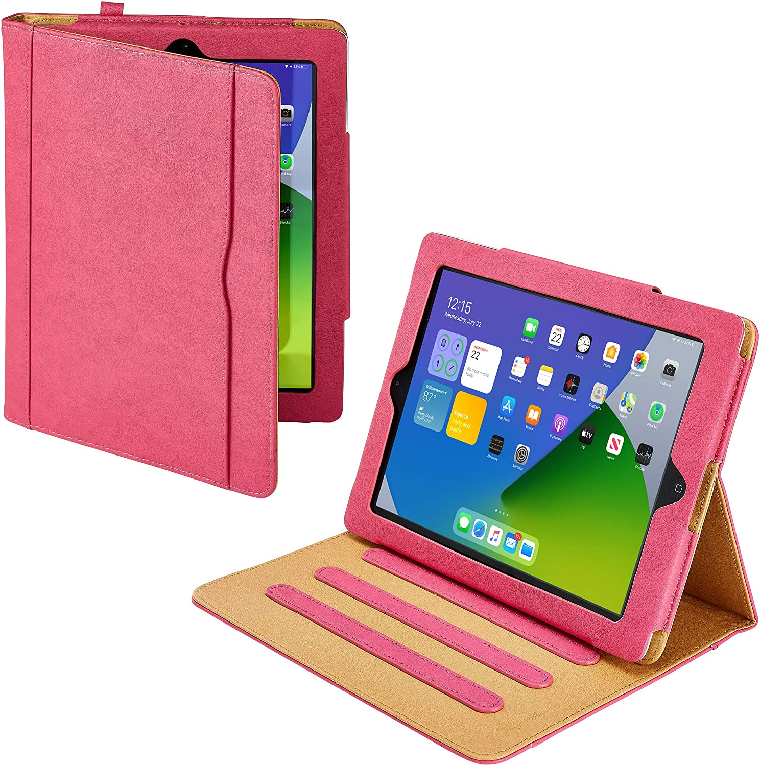 S-Tech iPad 10.2 Case 2020 iPad 8th Generation Case / 2019 iPad 7th Generation Case - Soft Leather Wallet Magnetic Smart Cover with Sleep / Wake Feature Flip Folio Pencil Holder for Apple