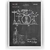 Kit de batería 1959 Poster de Patente - Drum Kit Set Patent Póster Con Diseños Patentes Decoracion de Hogar Inventos…
