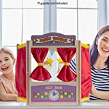 Hey! Play! Wooden Tabletop Puppet Theater with