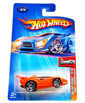 Hot Wheels 2004 079 First Editions Tooned Lamborghini Countach 1 64
