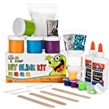 Homemade Slime Kit   How to Make Slime, Putty, and Goo   Includes Slime Containers, Ingredients, and Supplies for 4 Different Kinds of Slime: Glow in the Dark, Neon Colored, Foam, Glitter by Mr. E=mc²