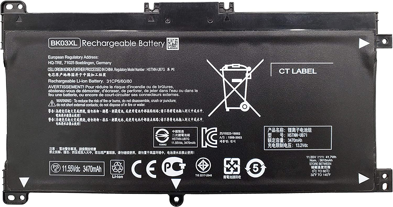 Tinkerpal BK03XL 41.7WH 11.55V Replacement Laptop Battery for HP Pavilion x360 Converitble PC 14-BA000 14M-BA000 916366-421 916366-541 916811-855 916812-855 BK03041XL HSTNN-LB7S HSTNN-UB7G TPN-W125