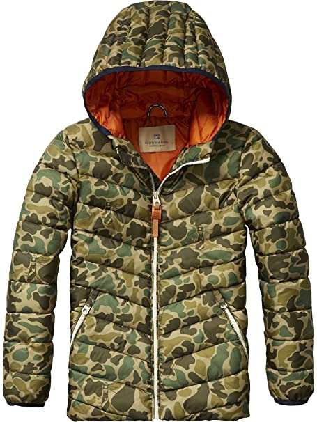 d3a8c8b66129 Scotch   Soda Kids Boys  Basic Padded Nylon Jacket with Hood ...