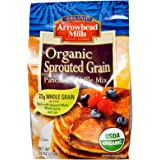 Arrowhead Mills, Organic Sprouted Grain Pancake & Waffle Mix, 26 oz (737 g) - 2pcs