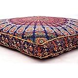 indiano pavone Mandala meditazione cuscino gettare piazza cuscino da pavimento pouf venduto da handicraft-palace