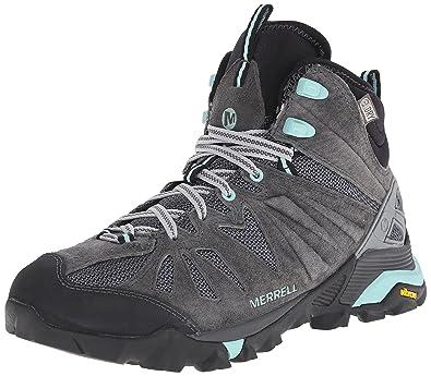 Merrell Women's Capra Mid Waterproof Hiking Boot, Granite, ...