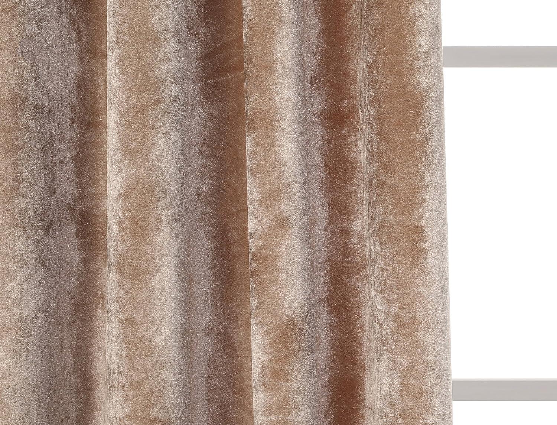1 Unidad 140 x 260 cm Modelo Terciopelo Color Gris Perla con 8 Ojales PimpamTex Cortina Terciopelo Opaca t/érmica Aislante para sal/ón Dormitorio y habitaci/ón