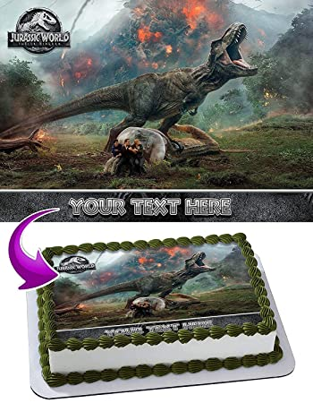 Jurassic World Fallen Kingdom Edible Cake Topper Personalized