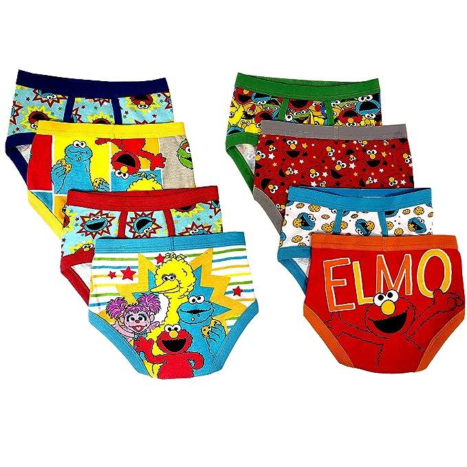 72181330c908d Amazon.com: Sesame Street Elmo Boys Underwear - 8-Pack Toddler/Little  Kid/Big Kid Size Briefs Cookie Monster Big Bird Oscar: Clothing