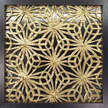 45min 16 Inch Handmade Paper Art Shadow Box 3d Abstract Framed Sculpture Wall Art Decor Contemporary Silvergold Flower Space