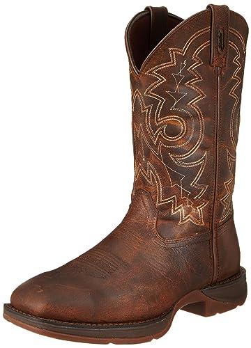 Durango Men's 11 Inch Pull-on Steel Toe DB4343 Western Boot,Brown,7