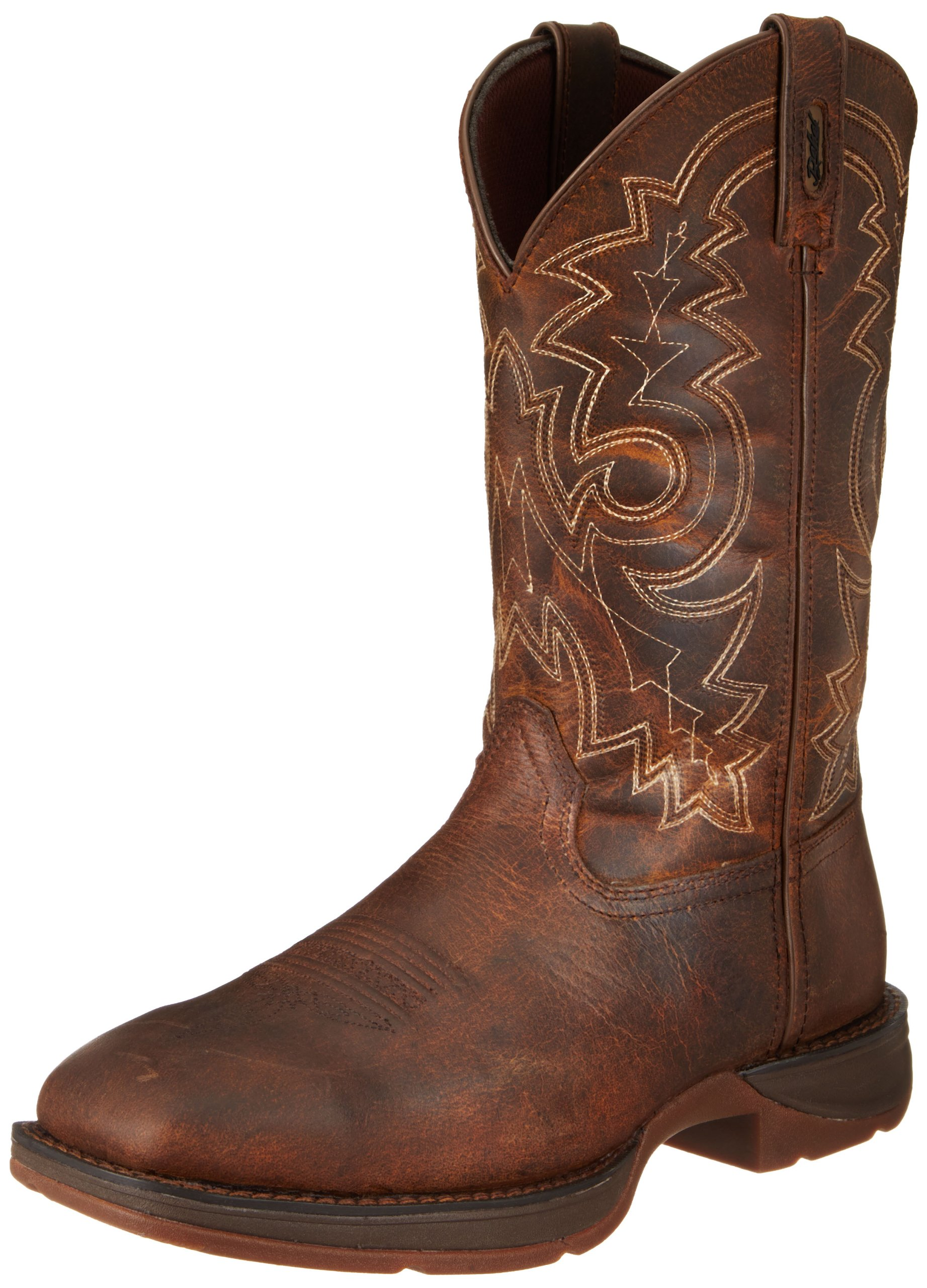 Durango Men's 11 Inch Pull-on Steel Toe DB4343 Western Boot,Brown,12 W US