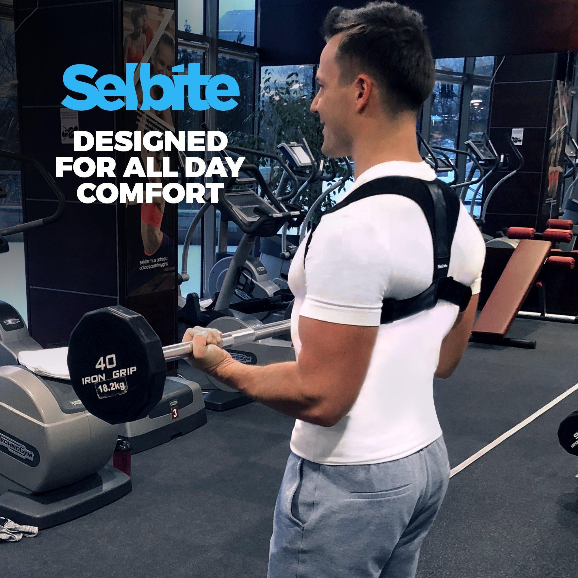 Back Posture Corrector for Men Women - Effective Posture Corrector Upper Back Straightener - Adjustable Posture Brace - Back Brace - Lightweight and Comfortable for Improving Posture by Selbite (Image #5)