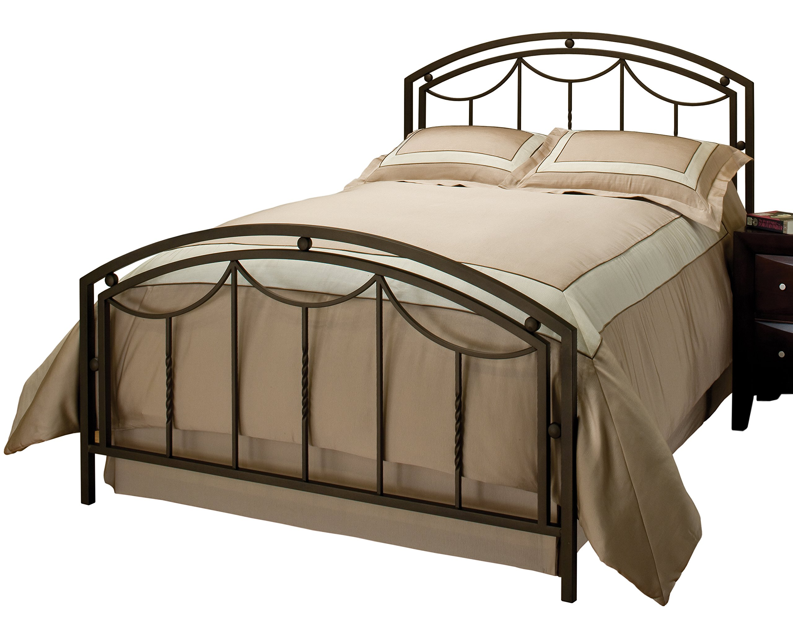 Hillsdale Furniture Hillsdale 1501BQR Arlington Frame, Queen, Bronze Bed Set,
