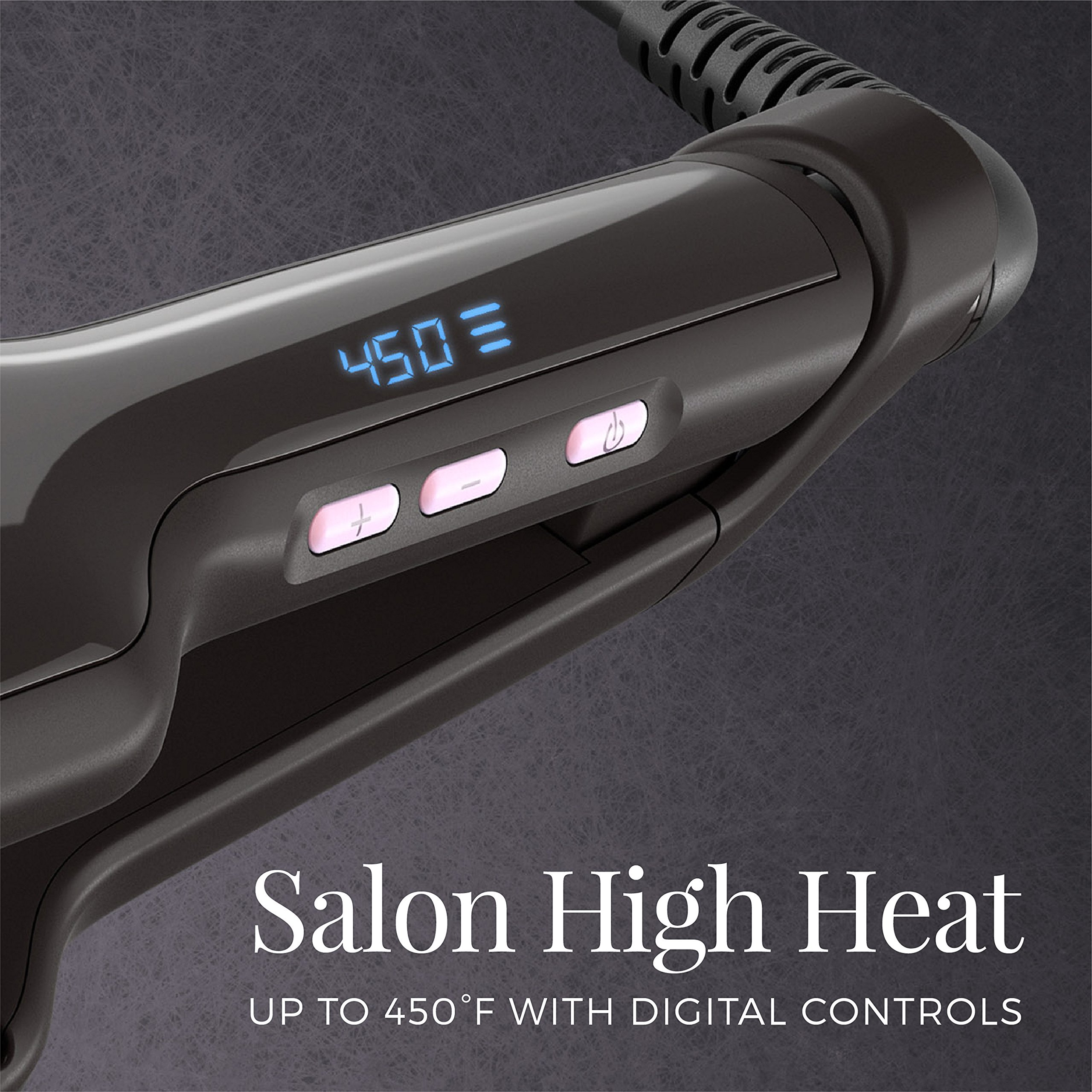 Remington Pro 2'' Flat Iron with Pearl Ceramic Technology and Digital Controls, Black, S9520 by Remington (Image #2)